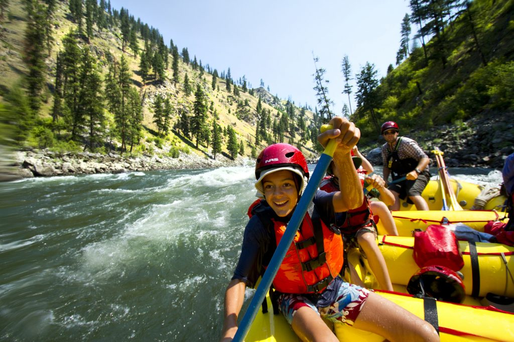 whitewater rafting with kids - less screen time