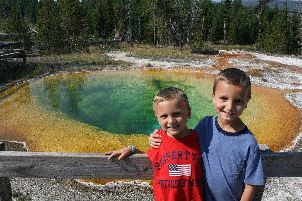 Morning Glory Pool in Yellowstone National Park was a wonder for the Grant family.