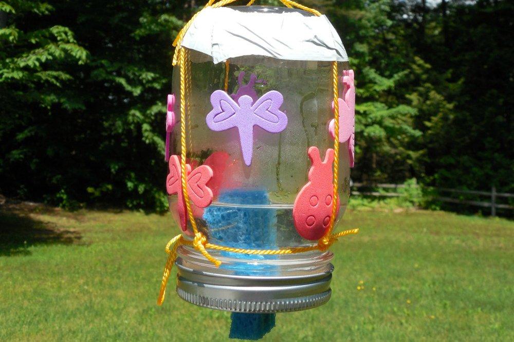 Outdoor STEM Activities butterfly feeder