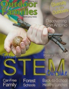 September cover Outdoor Families Magazine