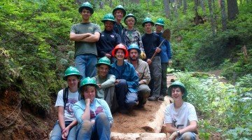 Young Trail Volunteers Learn Value of Sweat Equity