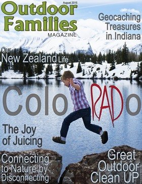 August cover Outdoor Families Magazine