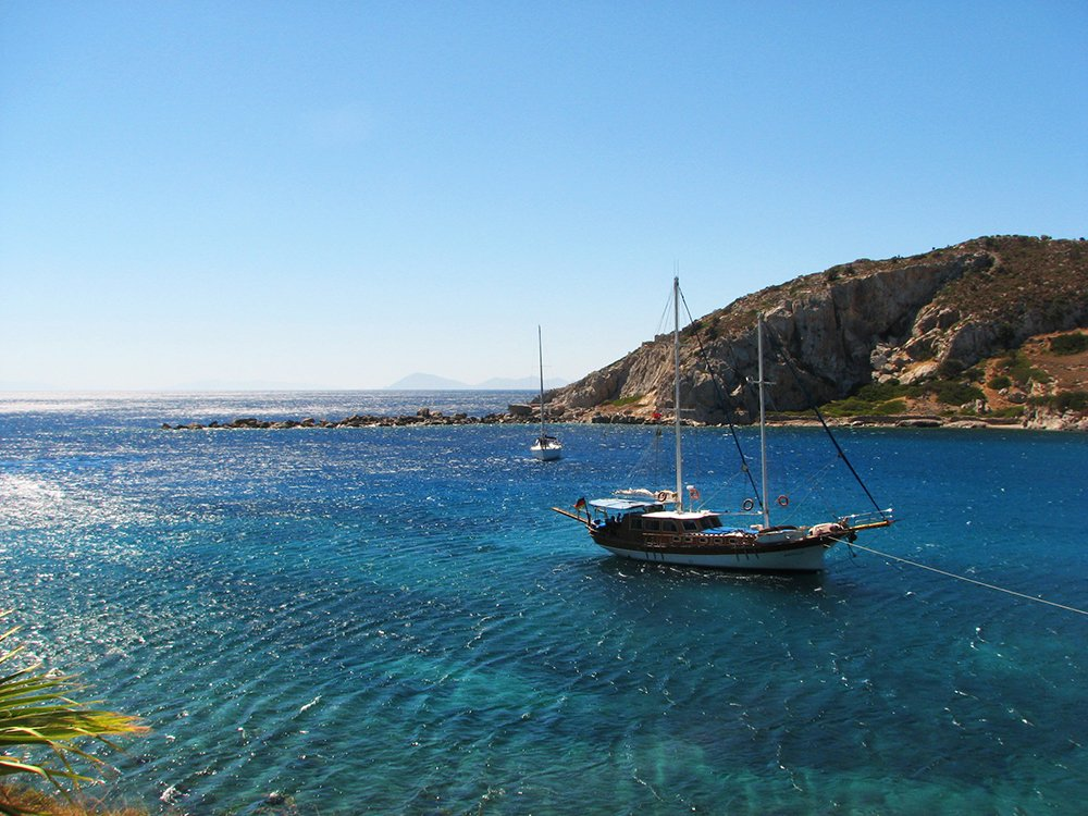 Turkey's blue sea beckons visitors. Image courtesy Jennifer Fontaine.