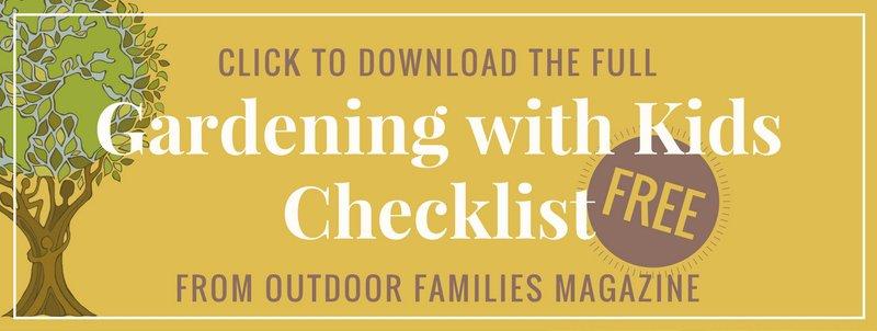 gardening with kids checklist