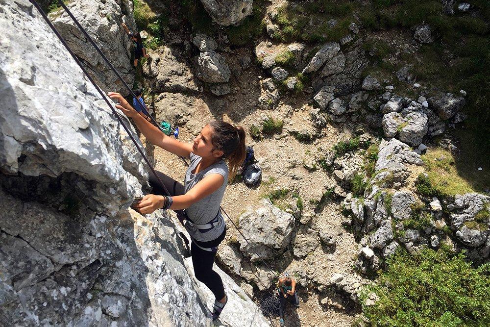 family climbing vacation outdoor adventure