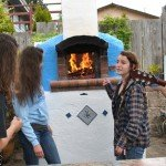 Outdoor pizza parties with teens