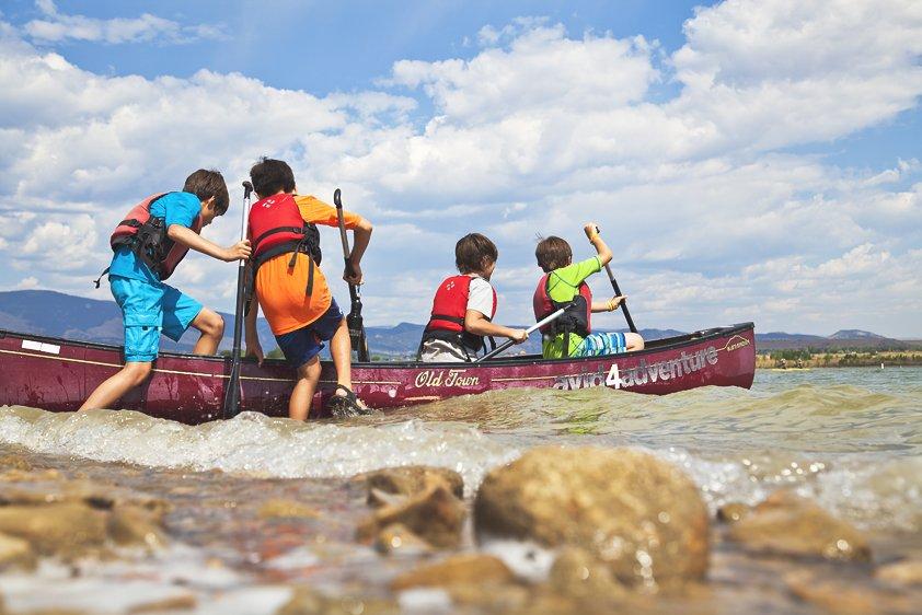 Avid 4 Adventure summer camp kids kayaking