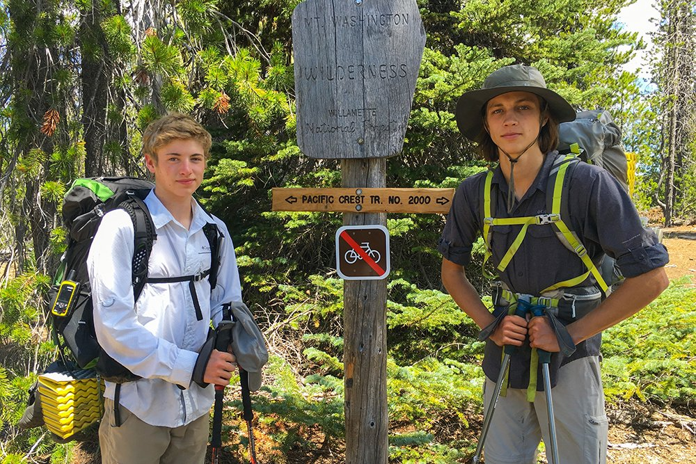 PCT kid hiking trips Pacific Crest Trail